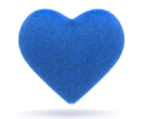 Blue puffy heart