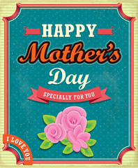 Vintage Mothers day poster design