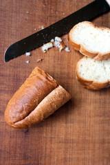 カットしたフランスパン_No23