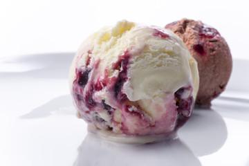 Cherry chocolate vanilla ice cream