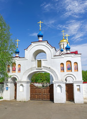 entrance gate to the Church Panteleimon. Russia, Orel region.