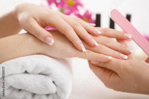 Leinwanddruck Bild Manicure