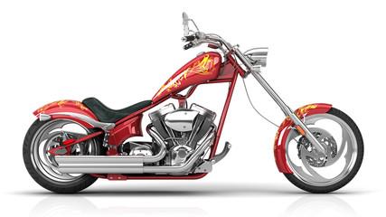 3d rendering of a Motorcycle in studio environemnt