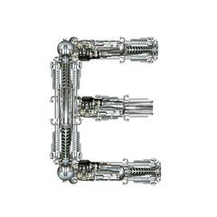 Alphabet technically, Letter E