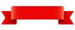 Rote Banderole mit Textfreiraum