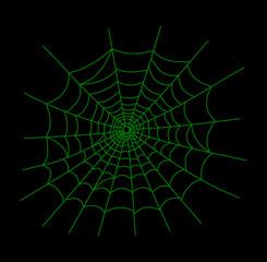a green cobweb