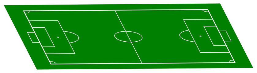 football field in perspective
