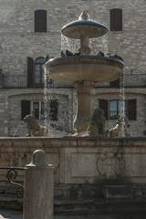 Brunnen auf der Piazza del Comune in Assisi