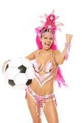 Brasilianeriin mit Fußball