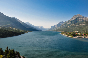 Crypt lake in Waterton National Park, Alberta, Canada