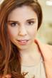 Gesicht einer jungen attraktiven Frau