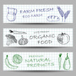 Hand drawn farm banners