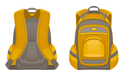 Backpack front and rear view