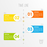 Timeline infographics template, vector illustration