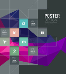 Modern posters squares template for business