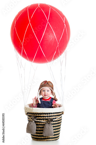 baby on hot air balloon