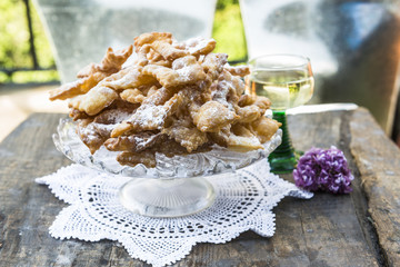 Frappe - Italian carnival fritters dusted with icing sugar