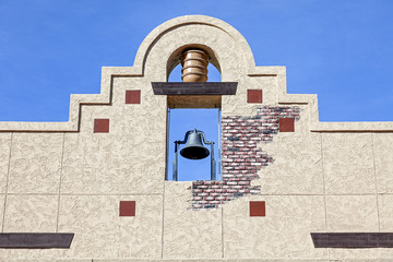A Mexican Style Bell Tower Wall