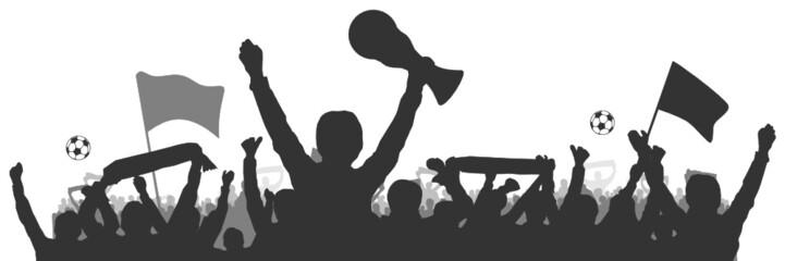 Fussball Menschen Pokal Weltmeister