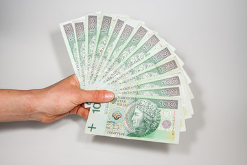Polish money in the face value of PLN 100