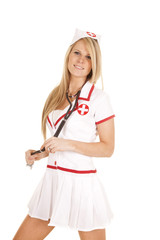 nurse stethoscope around neck smile