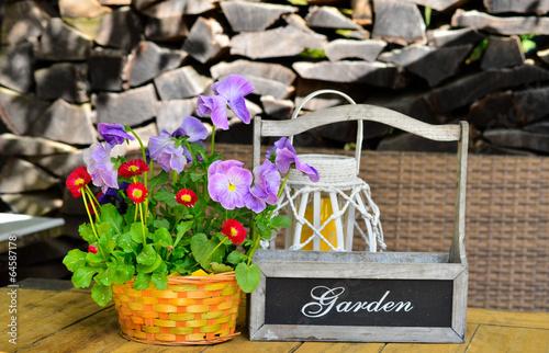 canvas print picture Garten Tisch Terrasse