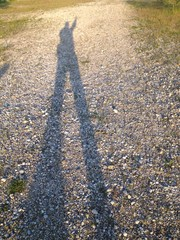 hiker's shadow