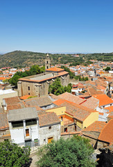 Vista panóramica de Montánchez, Extremadura, España