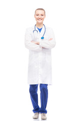 Young, professional and cheerful female doctor