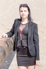 Business Frau mit Sonnenbrille