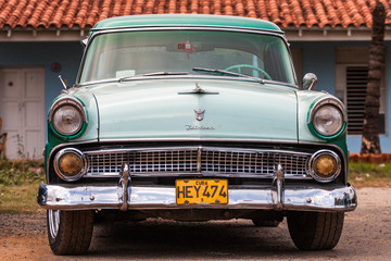 classic American car on streets of Trinidad, Cuba