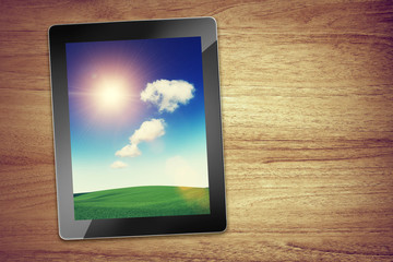 sun and cloud tablet