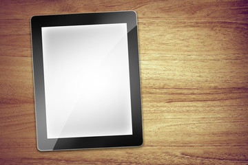 blank desk tablet