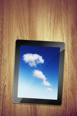 cloud tablet on desk