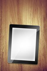 tablet on desk