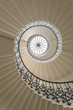 Leinwanddruck Bild - Upside view of a spiral staircase