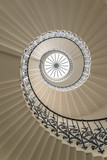 Upside view of a spiral staircase - 64587965
