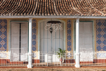 colonial architecture in centre town, Trinidad, Cuba