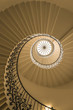 Upside view of a spiral staircase - 64588345