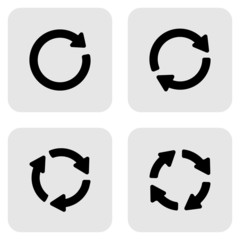 arrow sign reload refresh rotation loop pictogram.