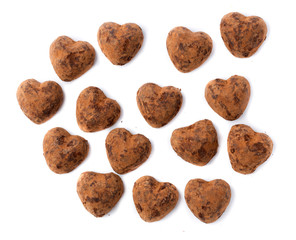 Chocolates truffles in bulk for Valentine's Day.