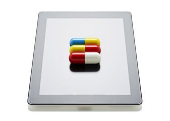 Pills on a digital tablet