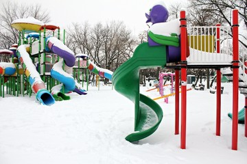 Outdoor toys in wintertime