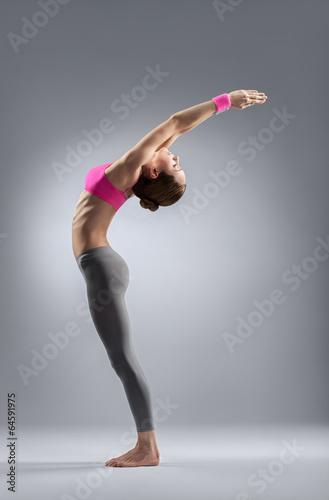 the yoga woman Plakát