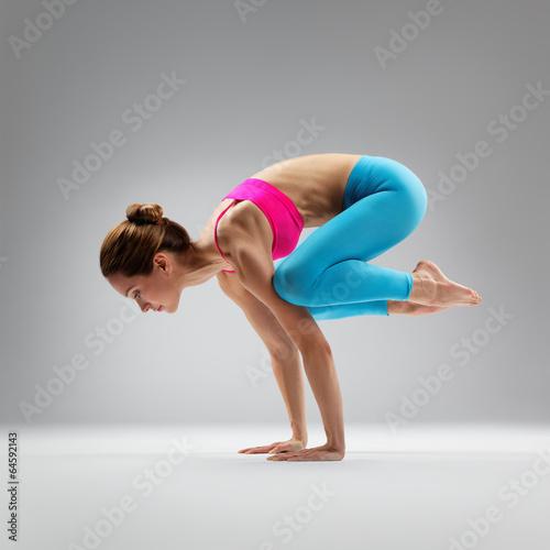 Vászonkép the yoga woman
