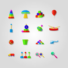 Icons for children toys