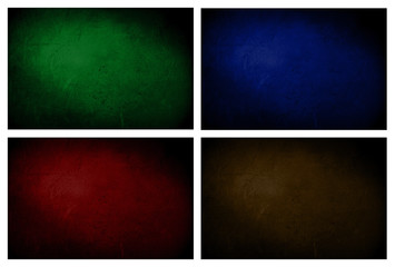 Green, blue, red, brown texture background with spothlight