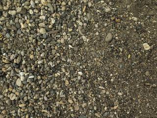Textura de piedras en costa de lago