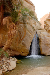 Beautiful mountain oasis in Tunisia