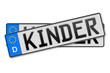 Auto Kennzeichen Kinder